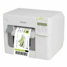 Epson ColorWorks C3500 Label Club Bundle 03, Cutter, Disp., USB, Ethernet, NiceLabel, weiß