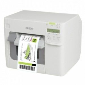 Epson ColorWorks C3500 Label Club Bundle 05, Cutter, Disp., USB, Ethernet, NiceLabel, weiß