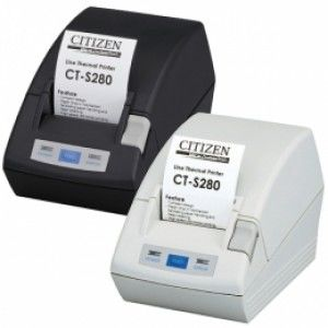 *TOP* Citizen CT-S281, RS232, 8 Punkte/mm (203dpi), Cutter, schwarz