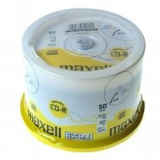 CD-R 80 Maxell 52x Inkjet white 50er Cakebox