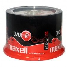 DVD+R 4.7GB Maxell 16x Inkjet white 50er Cakebox