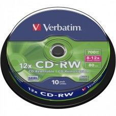 CD-RW 80 Verbatim 12x 10er Cakebox