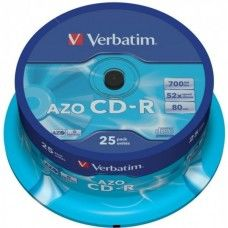 CD-R 80 Verbatim 52x DLP AZO 25er Cakebox
