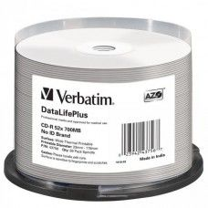 CD-R 80 Verbatim 52x DLP Thermo white Full Surface 50er Cakebox
