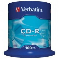 CD-R 80 Verbatim 52x DL 100er Cakebox