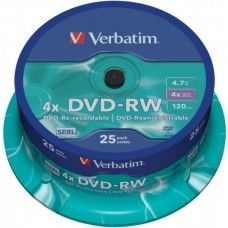 DVD-RW 4.7GB Verbatim 4x 25er Cakebox