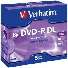 DVD+R 8.5GB Verbatim 8x 5 JC