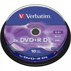 DVD+R 8.5GB Verbatim 8x DL 10 CB