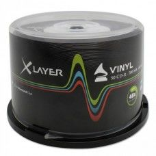 CD-R 80 XLayer 48x Black Vinyl Inkjet white 50er Cakebox