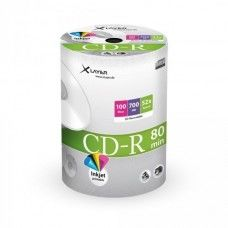 CD-R 80 XLayer 52x Inkjet white Full Surface 100er Shrink Pack