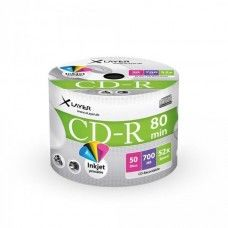 CD-R 80 XLayer 52x Inkjet white Full Surface 50er Cakebox