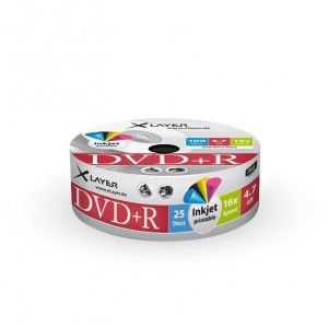 DVD-R 4.7GB XLayer 16x Inkjet white Full Surface 25er Shrink Pack